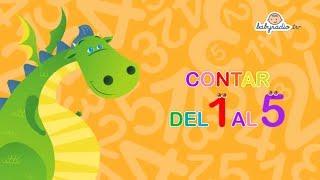 Los números del 1 al 5 - Aprende a contar - Matemáticas para niños con Mon el dragón
