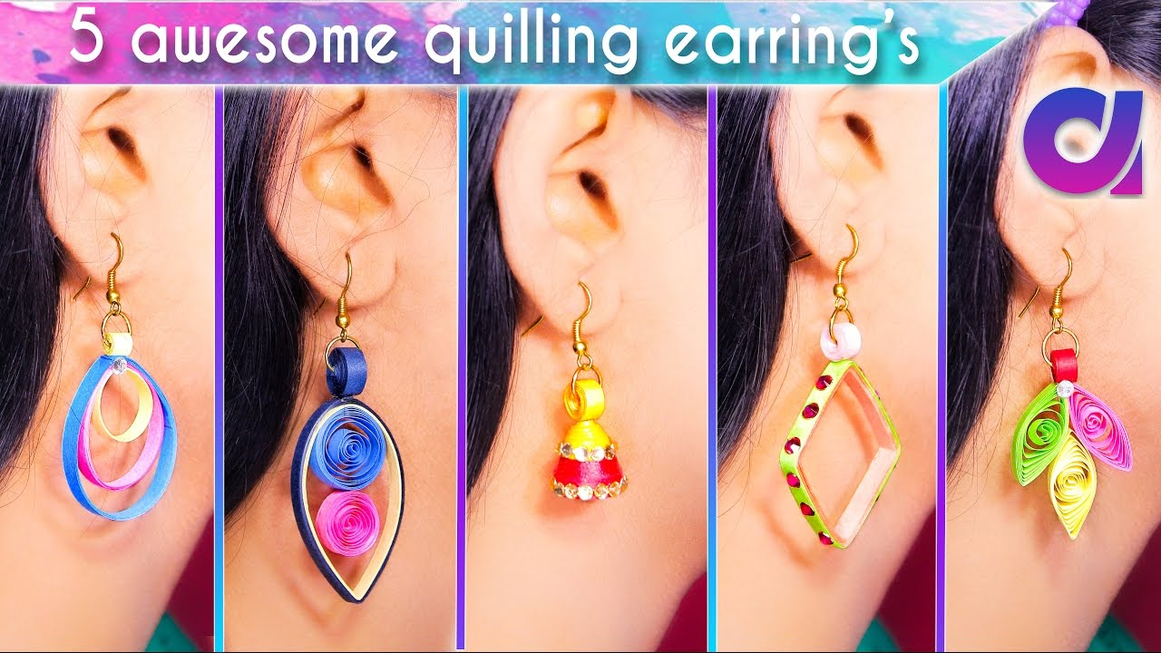 5 Easy And Awesome Quilling Earrings For S Diy Artkala 193