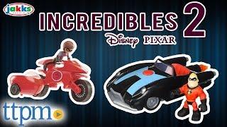 Incredibles 2 Vehicles - Mr Incredible's INCREDIBILE & Elastigirl's Elasticycle | Jakks Pacific