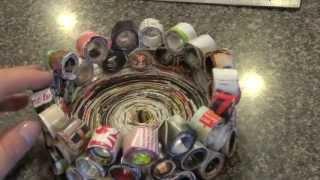 Diy: Mini Desk Trash Bin / Pencil Holder / Jewelry Basket!