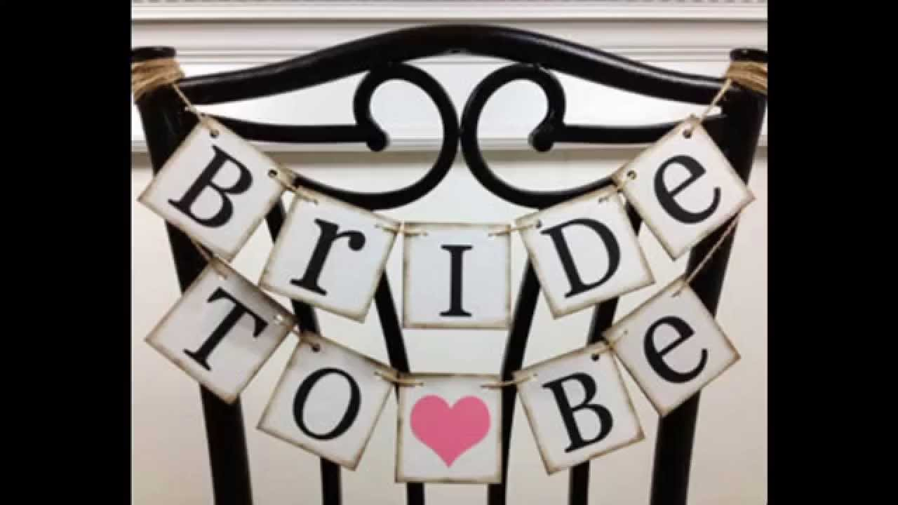 4bc2f4d0b90 Simple Bridal shower banners decorating ideas - YouTube