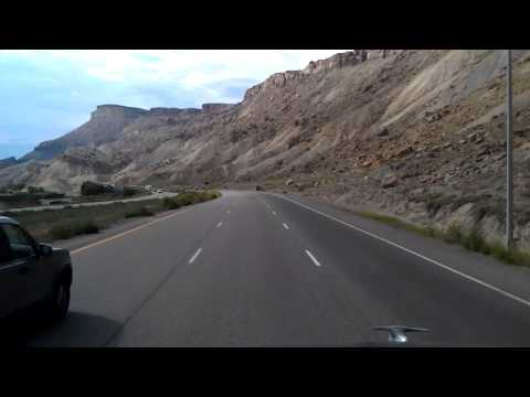 Interstate 70 Westbound passing Colorado River Island Acres State Park