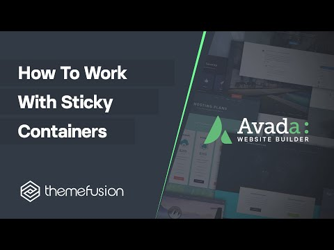 How To Work With Sticky Containers Video