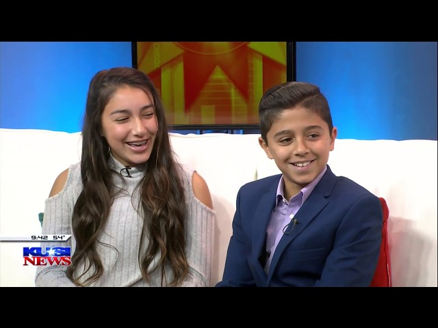 Daniella Benitez & Gabriel Benitez on KUSI talking about Build A Miracle!