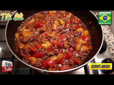 Chili con Carne e Fagioli - Chili com Carne e Feijão