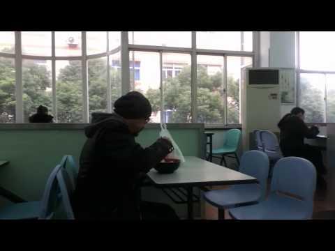China, Shanghai Report 上海外国語大学 食堂の様子 China chongguo