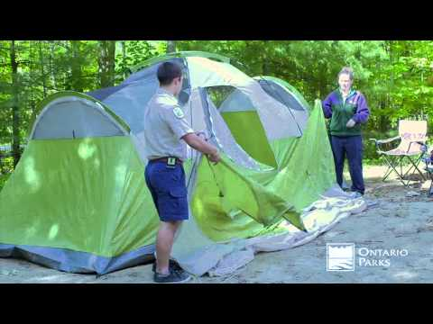 Camping Tips from Ontario Parks - Setting up a Tent