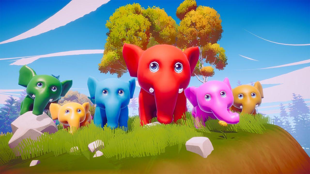 ช้าง ช้าง ช้าง น้องเคยเห็นช้างหรือเปล่า การ์ตูน น่ารักๆ  - The Kids Song