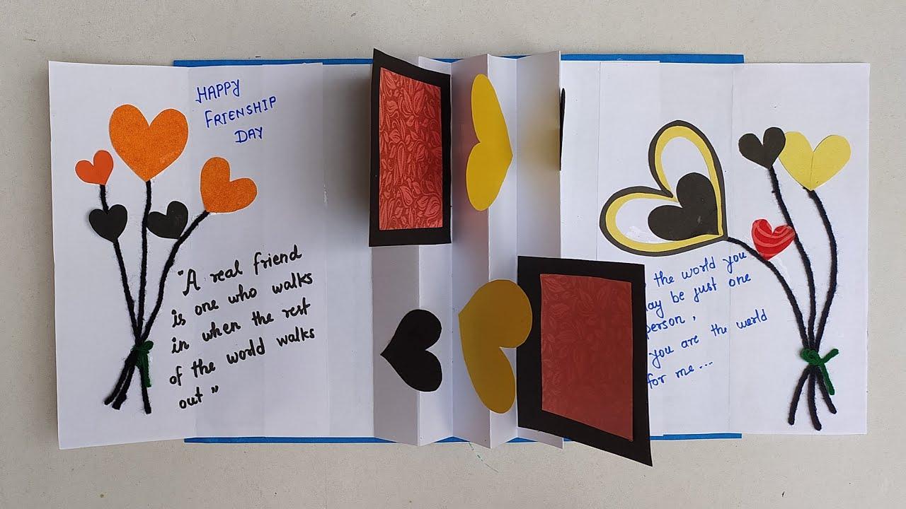 friends forever pop up card  make a beautiful pop up card
