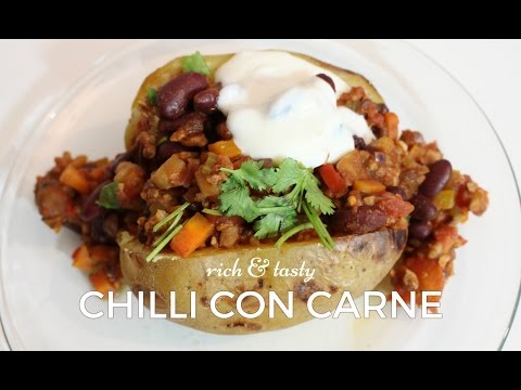 VEGAN LUSH CHILLI CON CARNE WITH LIQUID SMOKE & CHOCOLATE