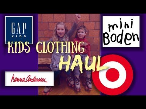KIDS CLOTHING HAUL! Hanna Andersson, Mini Boden, Gap Kids, Target... January SALE!