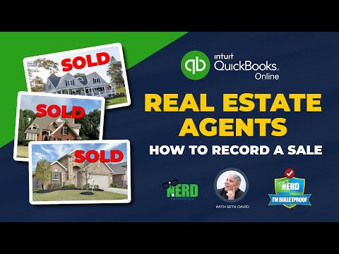 QuickBooks Online for Real Estate Agents   How to Record a Sale