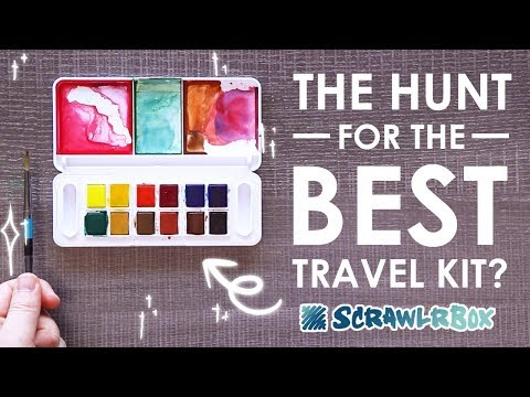 Is THIS the BEST Travel WATERCOLOR KIT?! - Mystery Unboxing & Challenge thumbnail
