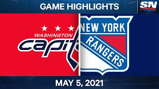 NHL Game Highlights | Capitals vs. Rangers - May 5, 2021