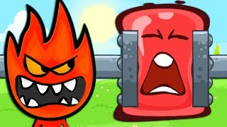 - RED BALL 4 Fireboy and Watergirl ball Complete game Adventure INTO THE CAVE with BOSS fights