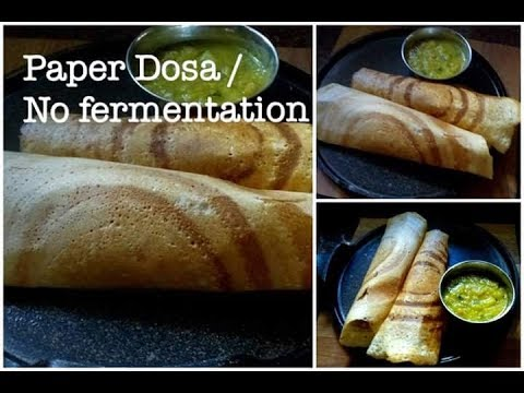 how to make crispy dosa batter at home