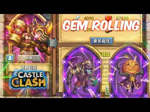 Castle Clash: Rolling 15k Gems For Rockno [New Hero]
