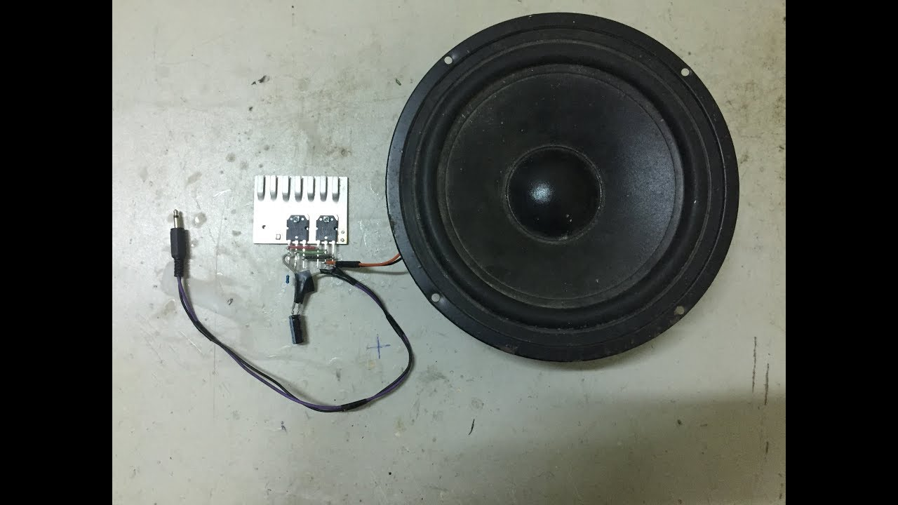 Diy Powerful Amplifier Circuit With Dou Transistor D718 Youtube Audio