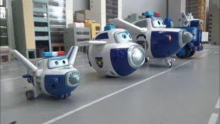 Super Wings Police Airplane Robot Toys Transformation 슈퍼윙스 경찰 비행기 로봇 장난감 변신