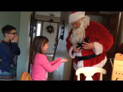 Kids Go Crazy When Santa Delivers A Christmas Kitten
