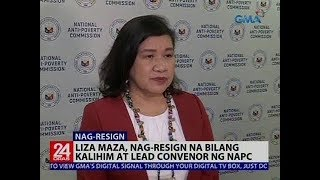 Nag-resign na si Liza Maza bilang kalihim at lead convenor ng Natio...