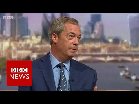 'Donald Trump is on course to win' Nigel Farage - BBC News