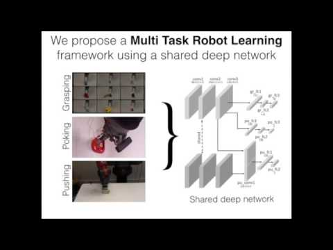 Multi Task Robot Learning: Learning to Push from Grasping