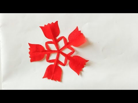 Super easy paper cutting:flower 3