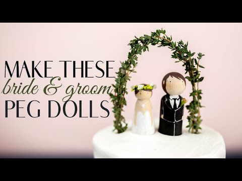 Make These Cheap + Easy Wedding Cake Toppers