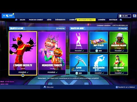 BOUTIQUE FORTNITE du 28 Décembre 2018 ! ITEM SHOP December 28 2018