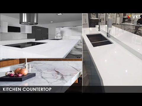 Modern Kitchen Countertops Design Ideas Colors Types   New Granite Kitchen Nano White Designs 2019