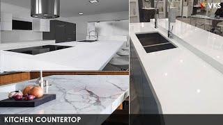 Modern Kitchen Countertops Design Ideas | Nano White Granite Kitchen Designs 2020 | Kitchen Sink