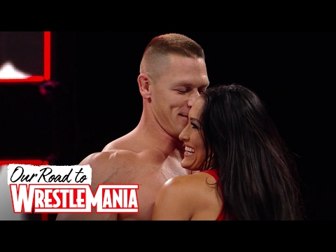 Thumbnail: Nikki Bella's unforgettable first match with John Cena - Our Road to WrestleMania: John and Nikki