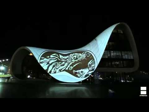 Heydar Aliyev Cultural Center video installation