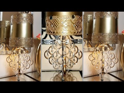 Diy Glam Table Lamp| So Fashon Plus collab! Inexpensive Home Decorating Idea!