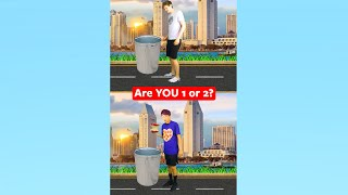 Are YOU 1 or 2? 😂 #shorts