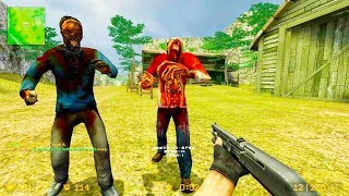 Counter Strike Source - Zombie Horde Mod Online Gameplay on cs_jungle map