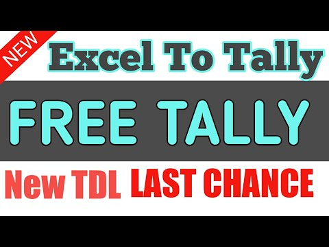 EXCEL TO TALLY FREE TDL STOCK ITEM IMPORT IN TALLY FREE TDL