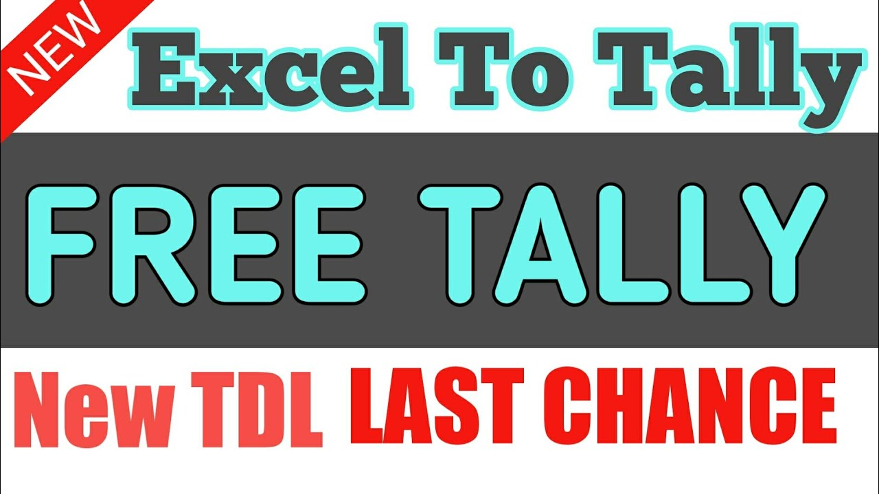 EXCEL TO TALLY FREE TDL STOCK ITEM IMPORT IN TALLY FREE TDL • KC