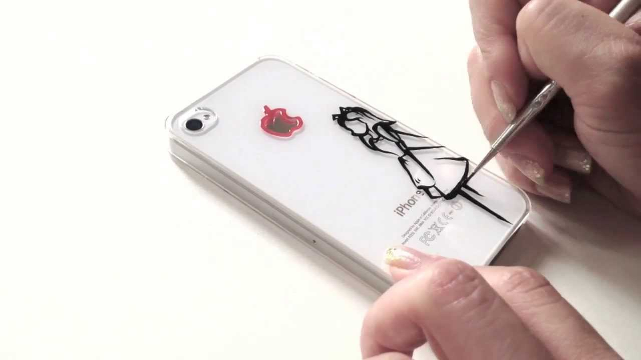 DIY speed ink drawing on phone case Alice in