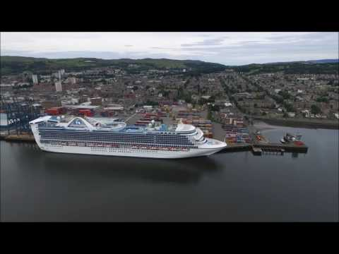 Caribbean Princess at Greenock Scotland 5th August 2016
