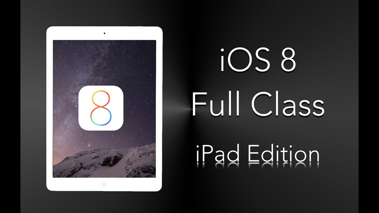 New to IOS 8 - iPad Edition FULL TUTORIAL