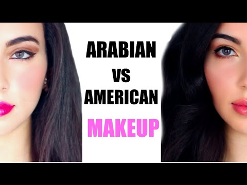 Arabian Makeup VS American Makeup Before and After ...