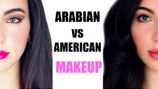 Arabian Makeup VS American Makeup Before and After Transformation