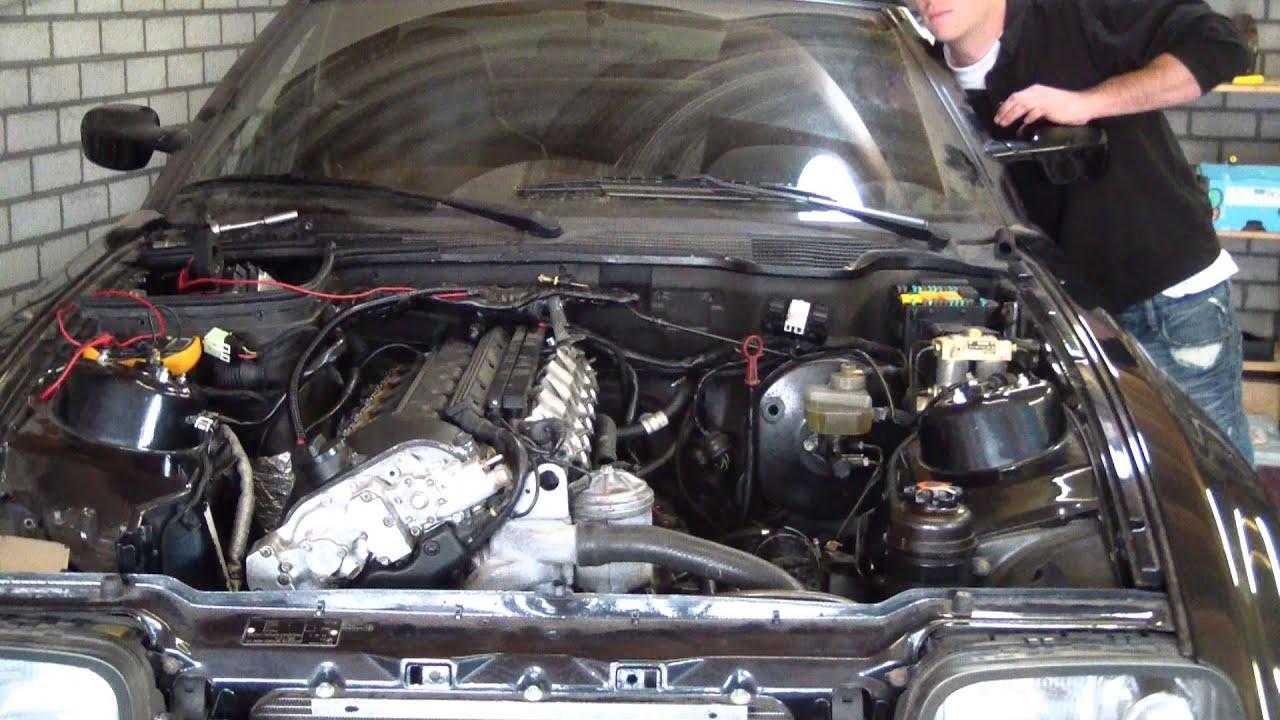 Initial Start S50b32 M3 Engine In Bmw Z1 Youtube