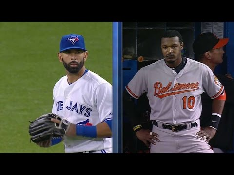 BAL@TOR: Bautista, Jones have words with each other