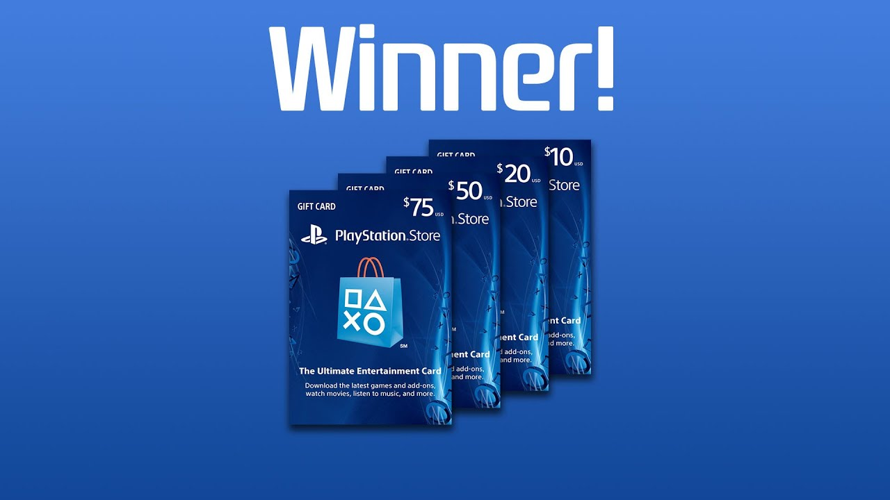 PlayStation Gift Card Giveaway Winner! - YouTube