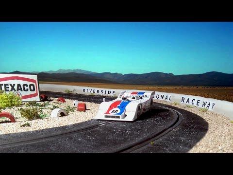 Porsche 917/10 Hurley Haywood corner 9 Riverside International Raceway. 1973