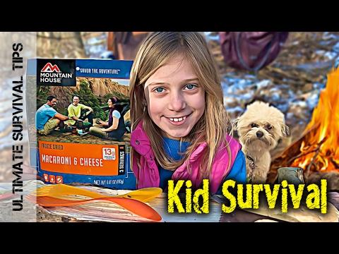 NEW! Kid Survival - Lilly and Dad - Build Bushcraft Camp for Beginners - V1