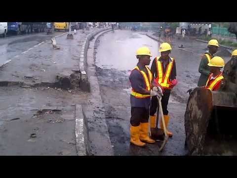 Commencement Of Wharf Road Construction By A.G. Dangote
